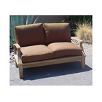 Anderson Teak - Brianna Deep Seating Loveseat w Cushion - Unfinished (Canvas - Navy) - Choose Sunbrella Cushion: Canvas - Navy. Snuggle up next to your loved one in the throes of luxurious artisan work and unparalleled design in your Outdoor Teak Framed Loveseat w/ Cushion, a lovely home addition exemplary of charm, style, beauty, and the true natural essence of teak.  Dual coziness is yours with this selection.  Sloped armrests create a comfortable space for visitors and guests while cushions contour easily.  Sink into this haven when you place this outdoors, on your patio, poolside or porch.  View our site for further accessories and more. * Comes with Sunbrella cushion. Slat back design. With arms. Perfect match for any of Brianna Collections. Teak wood construction. Minimal assembly required. 52 in. L x 27 in. W x 32 in. H (70 lbs.)The Brianna Deep Seating Loveseat is the perfect addition for your backyard furniture. This collection piece Sunbrella cushions included and a perfect match for any of Brianna collections. It is elegant, comfort and stylist.
