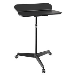Altra - Tablet / Laptop Cart - Mobile computing is now easier than ever with the Tablet Cart. Prop up your tablet or eReader with the flip up panel. Use your laptop and tablet , or read a book and write a letter at the same time! For convenient use, get more comfortable by adjusting the height.