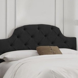 """Skyline Furniture - Tufted Upholstered Headboard - This contemporary headboard is embellished with nail buttons along the wings. This unique style headboard is inset by two upholstered wings. It's sure to add a modern look to any bedroom. Features: -Adds as an elegant focal point to any bedroom.-Deep diamond tufting.-Easily attaches to standard metal bed frames (not included) and adjusts in height.-Spot clean only.-Handmade.-Made in the USA.-Tufted collection.-Gloss Finish: No.-Frame Material: Pine wood.-Upholstered: Yes.-Hardware Material: Steel.-Wall Mounted: Yes.-Reversible: No.-Media Outlet Hole: No.-Built In Outlets: No.-Hardware Finish: Black metal.-Finished Back: No.-Distressed: No.-Hidden Storage: No.-Freestanding: No.-Drill Holes for Frame: Yes.-Commercial Use: No.-Recycled Content: No.Specifications: -EPP Compliant: No.-CPSIA or CPSC Compliant: Yes.-CARB Compliant: Yes.-JPMA Certified: No.-ASTM Certified: No.-ISTA 3A Certified: Yes.-PEFC Certified: No.-General Conformity Certificate: Yes.-Green Guard Certified: No.Dimensions: -Overall Height - Top to Bottom (Size: California King): 51"""".-Overall Height - Top to Bottom (Size: Full): 51"""".-Overall Height - Top to Bottom (Size: King): 51"""".-Overall Height - Top to Bottom (Size: Queen): 51"""".-Overall Height - Top to Bottom (Size: Twin): 51"""".-Overall Width - Side to Side (Size: California King): 74"""".-Overall Width - Side to Side (Size: Full): 56"""".-Overall Width - Side to Side (Size: King): 78"""".-Overall Width - Side to Side (Size: Queen): 62"""".-Overall Width - Side to Side (Size: Twin): 41"""".-Overall Depth - Front to Back (Size: California King): 4"""".-Overall Depth - Front to Back (Size: Full): 4"""".-Overall Depth - Front to Back (Size: King): 4"""".-Overall Depth - Front to Back (Size: Queen): 4"""".-Overall Depth - Front to Back (Size: Twin): 4"""".-Overall Product Weight (Size: California King): 40 lbs.-Overall Product Weight (Size: Full): 31 lbs.-Overall Product Weight (Size: King): 45 lbs.-Overall Product Weight (Size: Queen"""