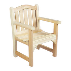Rustic Natural Cedar - Rustic Natural Cedar 050504C Camel Back Wooden Chair - Our elegantly styled camel back chair is designed with an arched back and deep seating for a relaxed fit and maximum comfort. The sturdy cedar construction ensures beauty and years of carefree use. Cedar is naturally resistant to decay, insect, and weather damage and, when left untreated, the creamy natural color weathers gracefully to a silvery grey.