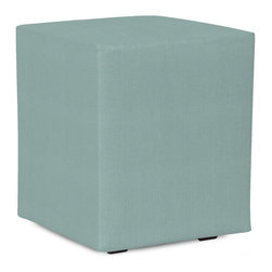 Howard Elliott - Sterling  Universal Cube Ottoman - Simple design, infinite uses. Cubes make great side tables, ottomans, alternate seating and more. Constructed by our expert craftsmen, our Cubes are made with a sturdy base and high-density foam.