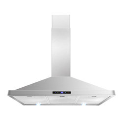 """AKDY - AKDY AK-63190S Euro Stainless Steel Wall Mount Range Hood, 36"""" - This 36 in. wall mount range hood not only provides excellent performance, but looks great as well. It features a powerful 760-CFM motor and has three fan-speed settings and 6 in. round duct to work perfectly with your needs. The dishwasher-safe baffle filter is a breeze to clean up, and optional recirculating and chimney extension kits are available."""