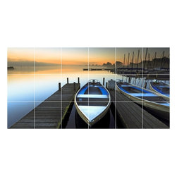 Picture-Tiles, LLC - Boat Ship Photo Wall Back Splash Tile Mural  18 x 36 - * Boat Ship Photo Wall Back Splash Tile Mural 1224