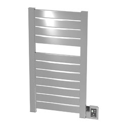 Amba - Block Electric Heated Towel Warmer, Brushed - • Dual-purpose radiator functions as towel warmer and space heater