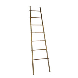 "Master Garden Products - 8' Bamboo Ladder Rack, 21""W x 96""H - Our bamboo ladder is uniquely designed to be used as a towel rack. It is made of natural bamboo and sand finished for indoor use. Finished with an all natural cashew nut oil to enhance its look as well as for extra protection."