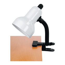 Lite Source - Lite Source LS-111WHT Clip-On Lamp - Lite Source LS-111WHT Clip-On Lamp