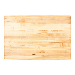 """Inviting Home - Boston Butcher Block Top - Hard maple butcher block top for kitchen island; 36"""" x 24"""" x 1-3/4; Hard maple butcher block top for kitchen island. Made in the USA with FDA-approved food-safe glues and finishing materials. Mounting hardware and installation instructions included."""