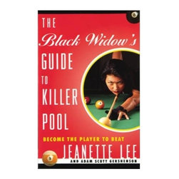 """Sterling Gaming - The Black Widows Guide to Killer Pool by Jean - Hip, engaging guide to the game is designed to turn you into the player to beat-in basements, bar leagues, local tournaments, and beyond. """"Jeanette Lee is a natural, like Wayne Gretzky, Babe Ruth, or Michael Jordan. She has earned player of the Year honors from both billiards digest and pool and billiard magazine. Weight: 1 lbs.Pool-playing legend Jeanette Lee """"The Black Widow,"""" who wears only black during tournaments and devours her opponents explains every aspect of playing to win, from holding the cue to performing combination, kiss, and trick shots. Lee shows wannabe winners of every level how to compete intelligently, lose gracefully, win frequently, stay focused, and achieve goals in the face of seemingly insurmountable obstacles. You may not become a world champion pool player, but this book will help you be the best player you can be."""" David Brenner, comedian/actor/owner of Amsterdam Billiard Clubs of NYC. Jeanette Lee, pool player extraordinaire, is also a model, an actress, and a motivational speaker."""