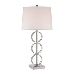 Illumine - White Bed Side Lamps: 32 in. White Table Lamp with White Fabric Shade CLI-LS-220 - Shop for Lighting & Fans at The Home Depot. The Designer Collection supplied by Commercial Lighting Industries is both modern and stylish, all while maintaining the ability to fuse together many different genres. This collection finds itself at home in many of today s popular design schemes. Whether you re looking for lamps, wall-Lighting, pendants, or novelty lamps, the Designer Collection offers a lighting solution that is sure to satisfy any of your lighting needs.