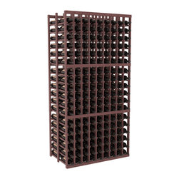 Wine Racks America - 9 Column Double Deep Cellar in Ponderosa Pine, Walnut + Satin Finish - This beautiful and highly efficient 9 column wine rack kit only takes about 3 feet of wall space but holds 36 bottles per column. That is a total of 324 bottles (or 27 cases) in one rack! Double deep storage is ideal for restaurants, bars and private collectors as we stand behind our products and their quality. Those are guarantees.