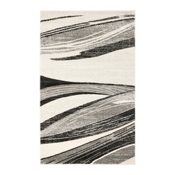 Safavieh - Safavieh Retro Contemporary Rug X-4-2197-1962TER - Safavieh channels the Sixties with Retro Shag, a cool new spin on the essential floor covering of mid-century modern style. The perfect complements to clean-lined furniture of the period, these chic black and white designs morph into tones of gray, silver and ivory in patterns from Pollack-inspired abstracts to contemporary graphics. Machine-loomed in Turkey of 100 percent polypropylene, our low-pile Retro Shag rugs combine beauty, easy care and outstanding performance.