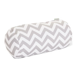 Majestic Home - Outdoor Gray Chevron Round Bolster - Add a splash of color and a little texture to any environment with these great indoor/outdoor plush pillows by Majestic Home Goods. The Majestic Home Goods Round Bolster Pillow will add additional comfort to your living room sofa or your outdoor patio. Whether you are using them as decor throw pillows or simply for support, Majestic Home Goods Round Bolster Pillows are the perfect addition to your home. These throw pillows are woven from Outdoor Treated polyester with up to 1000 hours of U.V. protection, and filled with Super Loft recycled Polyester Fiber Fill for a comfortable but durable look. Spot clean only.