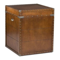 Southern Enterprises Inc. - Steamer Trunk End Table - A charming old fashioned steamer trunk was the inspiration for the design of this handsome end table. Use it as an accent piece in a living room, or even as a nightstand in a bedroom.