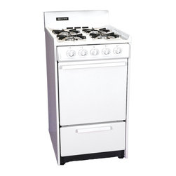 "Brown - 20"" Gas Range, GloBar Ignition - Features:"