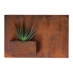 Potted - City Planter by Potted, Standard, Horizontal - Wall planters as art. City Planters add an intriguing dimension to vertical gardening. Hang several on a wall for dramatic impact, or let them stand alone.