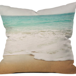 DENY Designs - Bree Madden Ombre Beach Outdoor Throw Pillow - Do you hear that noise? it's your outdoor area begging for a facelift and what better way to turn up the chic than with our outdoor throw pillow collection? Made from water and mildew proof woven polyester, our indoor/outdoor throw pillow is the perfect way to add some vibrance and character to your boring outdoor furniture while giving the rain a run for its money. Custom printed in the USA for every order.