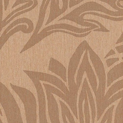Romosa Wallcoverings - Egg Shell Brown / Dark Brown Nature Damask Harvesting Fall Wallpaper - -  Paste The Wall. Super Washable. Good Light Fastness. Strippable.