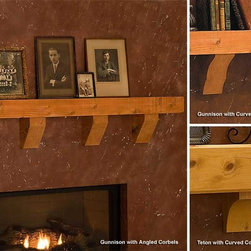 Gunnison Timber Fireplace Mantel Shelf - Made from solid greenwood and finished in a linseed oil, the Gunnsion Timber Fireplace Mantel Shelf would match a modern home with gold-hued accents or a rustic, traditional home with ease. -Mantels Direct