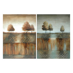 Crestview Collection - Crestview Collection Inverness Landscape Stretched Canvas High Gloss Wall Art X- - Crestview Collection Inverness Landscape Stretched Canvas High Gloss Wall Art X-4101POTVC