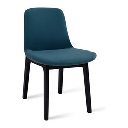 Bryght - Aurora Clover Dining Chair - It's all in the details. The Aurora dining chair is a delectable piece with beautiful double stitched seams and an encapsulating leg design. Injection molded foam seat and back ensures long term durability. Available in a wide array of colors.