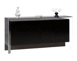"""Creative Furniture - """"Creative Furniture"""" Vanda Modern Black Buffet - Features:"""