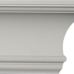 uDecor - CM-2041 Crown Molding - Crown molding is manufactured with a dense architectural polyurethane compound (not Styrofoam) that allows it to be semi-flexible and 100% waterproof. This molding is delivered pre-primed for paint. It is installed with architectural adhesive and/or finish nails. It can also be finished with caulk, spackle and your choice of paint, just like wood or MDF. A major advantage of polyurethane is that it will not expand, constrict or warp over time with changes in temperature or humidity. It's safe to install in rooms with the presence of moisture like bathrooms and kitchens. This product will not encourage the growth of mold or mildew, and it will never rot.