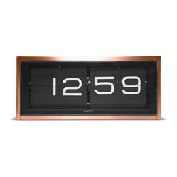 Leff Amsterdam - Brick Wall/Desk Clock  _Copper - Leff Amsterdam - The ultimate heavy duty piece of our collection. A vintage flip clock, reinvented and redesigned, with a unique combination of materials and graphics. Inside the stainless steel case a precision machine provides you a different composition of numbers every minute. The case is welded and brushed by hand which brings this clock to a high level of craftsmanship. This clock can be displayed on a desk or hung on the wall.
