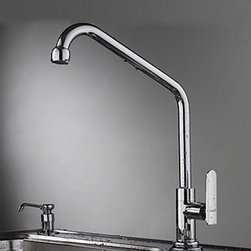 Kitchen Sink Faucets - Contemporary Brass Rotatable Kitchen Faucet - Chrome Finish--FaucetSuperDeal.com