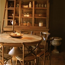 European Design Furniture and Architectural Salvage Elements - European design furniture and architectural salvage elements including rustic tables, distressed leather chairs, reclaimed wood furnishings, vintage decorating accessories.