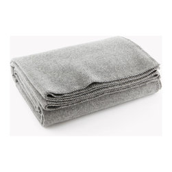 Faribault Woolen Mill Co. - Pure & Simple Wool Blanket, Light Heather Gray, Queen - The Pure & Simple Blanket was first introduced in the 1950's and has been a staple in the Faribault Woolen Mill line ever since. Woven in 100% virgin wool and machine wash and dryable, the simplicity of the Pure & Simple allows us to showcase all of the benefits of a woolen blanket – warmth, comfort and durability. This versatile medium weight blanket, available in a variety of vivid colors and finished with a traditional whip-stitch edge, can be used as an extra layer in the cool months and can stand alone as a statement piece in the warm seasons.