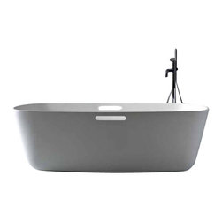 WS Bath Collections - WS Bath Collections Mastel 20 MA 1001 Bathtub - Mastel 20 Ma 1001 Free Standing Bathtub by Wes Bath Collections, 70.9 x 35.4 x H 19.7