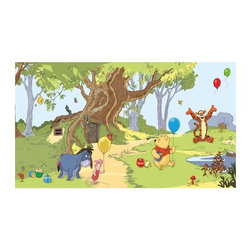 RoomMates - RoomMates Disney Pooh and Friends Chair Rail Mural Multicolor - JL1220M - Shop for Wall Decorations from Hayneedle.com! About Roommates: Roommates a subsidiary of York Wallcoverings Inc creates some of the most versatile and unique wall decor you'll find. Their innovative wall decals feature a removable and endlessly reusable design allowing you to move and rearrange your decals as often as you like all without causing any damage to your walls or furnishings. This means you can apply them without worry or headache since you don't have to get the application perfect the first time. RoomMates work on any smooth surface and are particularly ideal for temporary decorating such as around the holidays. All RoomMates products are proudly made in the USA and are made from non-toxic materials so they're as safe for your kids and pets as they are for your walls.Please note this product does not ship to Pennsylvania.