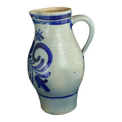 EuroLux Home - Consigned Vintage French Salt Glaze Hand Painted - Product Details