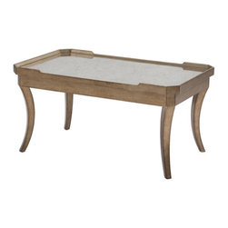 Belle Meade Signature - Modern Glamour Candace Coffee Table - Features: -Mirror top.-Sickle leg.-Modern Glamour's collection.-Collection: Modern Glamour.-Distressed: No.Dimensions: -Overall Product Weight: 35 lbs.Warranty: -2 Years manufacturer limit warranty.