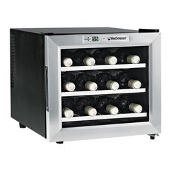 Wine Enthusiast 12-Bottle Single-Zone Free Standing Countertop Wine Cooler