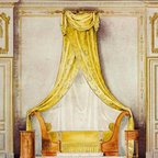 Design For An Empire Style Bedroom 11.584 x 16 Art Print On Canvas - Design For An Empire Style Bedroom by Louis Beraud Size: 11.584 x 16 Art Print Poster Canvas.  Transfer stretched, canvas museum wrap, comes ready to hang. Canvas board is an off white color.