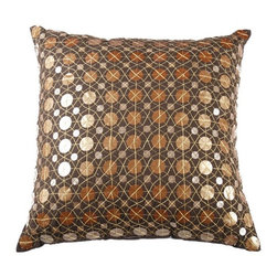 Rizzy Home - Brown and Copper Decorative Accent Pillows (Set of 2) - T03167 - Set of 2 Pillows.