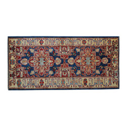 1800 Get A Rug - Navy Super Kazak 100% Wool Hand Knotted Runner Oriental Rug Sh15288 - Our Tribal & Geometric Collection consists of classic rugs woven with geometric patterns based on traditional tribal motifs. You will find Kazak rugs and flat-woven Kilims with centuries-old classic Turkish, Persian, Caucasian and Armenian patterns. The collection also includes the antique, finely-woven Serapi Heriz, the Mamluk Afghan, and the traditional village Persian rug.