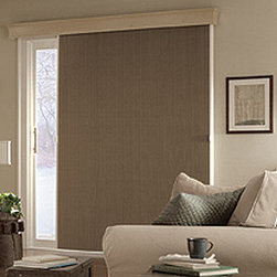"""Bali VertiCell 3/8"""" Single Cell Blackout - Perfect for patio doors, wide windows, and room dividers. Coordinate the look of various windows - even in adjoining rooms. Available in all the fabrics, colors and cell sizes from the Bali Diamond Cell collection. This product is stackable on the left, right or center."""