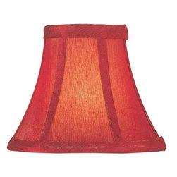 Lite Source - Candelabra Shade/Red Silk - 3in.Tx6in.Bx5in.Sh - Candelabra Shade/Red Silk - 3 in. Tx6 in. Bx5 in. Sh