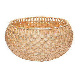 Lazy Susan - Large Natural Fish Scale Basket - Large Natural Fish Scale Basket