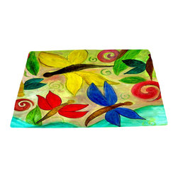xmarc - Garden Area Plush Area Rugs From Original Art - Garden area plush area rugs from original art. Tree frogs, dragonflies, flowers, lady bug, butterflies.