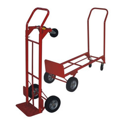Milwaukee - Milwaukee Convertible Hand Truck with Wheel Guard Multicolor - 35080 - Shop for Hand Trucks from Hayneedle.com! The Milwaukee Convertible Hand Truck with Wheel Guard helps get the job done faster and easier. With a hefty 600 lb. load capacity and convertible frame there's no job you can't handle. Measures 17L x 19.5W x 46H inches and rolls on 8-inch puncture proof tires.About Milwaukee Hand TruckThe trade name for products created and sold by Gleason Industrial Products Milwaukee Hand Trucks is a brand that professionals nationwide have come to trust. Founded over 60 years ago The Gleason Corporation has come a long way to become three manufacturing divisions based throughout the Midwest. Milwaukee Hand Trucks are manufactured in both Goshen Indiana and Lincoln Illinois by top-notch engineers who uphold the standard of durability customers have come to expect. Milwaukee: the name the pros trust!