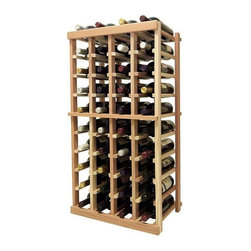 Wine Cellar Innovations - 3 ft. 4-Column Bottle Wine Rack (Prime Mahogany - Light Stain) - Choose Wood Type and Stain: Prime Mahogany - Light Stain. Bottle capacity: 40. Four column wine rack. Versatile wine racking. Custom and organized look. Beveled and rounded edges ensures wine labels will not tear when the bottles are removed. Can accommodate just about any ceiling height. Wine rack: 18.69 in. W x 13.5 in. D x 35.94 in. H (13 lbs.). Optional base platform: 18.69 in. W x 13.38 in. D x 3.81 in. H (5 lbs.). Vintner collection. Made in USA. Warranty. Assembly Instructions. Rack should be attached to a wall to prevent wobble