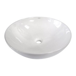 EAGO - EAGO BA351 18'' White Round Porcelain Bathroom Sink Basin without Overflow - We are very excited to offer you this top of the line brand of modern bathroom sinks. Join the latest fashion trend with EAGO's innovative line of green products and add a contemparary flaire to your bathroom.