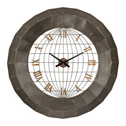 Sterling - Sterling 138-151 Oversized Metal Wall Clock - Sterling 138-151 Oversized Metal Wall Clock