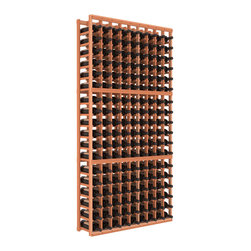 "Wine Racks America - 9-Column Standard Wine Cellar Kit, Redwood, Unstained - Surely Robert Louis Stevenson had this wooden cellar in mind when he wrote, ""Wine is bottled poetry."" The easy-to-assemble kit, in your choice of colors and finishes, features softened edges to be gentle on bottles and ensure no nicks or splinters on your fingers."