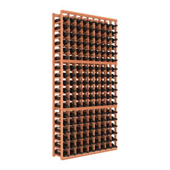 9-Column Standard Wine Cellar Kit in Redwood