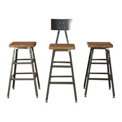 The Boston Bar Stool with Steel Back