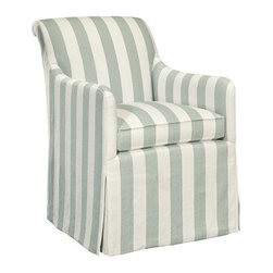 Lindsay Chair - It doesn't get much sweeter than a pretty, striped, skirted chair. A pair of these would be perfect in a living room or flanking a console table in an entryway.